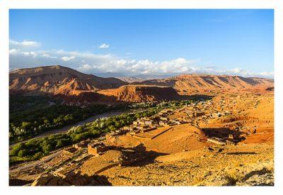 Blick auf das Dorf von Bou Trarar
