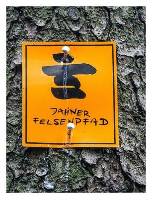 Ramberg und der Dahner Felsenpfad - Wanderwegsschild