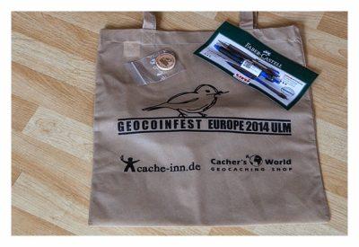 Geocoinfest Europe 2014 Ulm - die Geocaching-Tüte