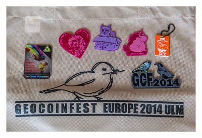 Geocoinfest Europe 2014 Ulm - Die Tauschausbeute
