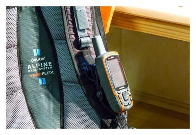 GPS-Halterung: Mein Test - Backpack tether mit GPSmap 64s am Rucksack