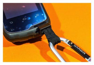 GPS-Halterung: Mein Test - Lanyard carabiner Deteilaufnahme