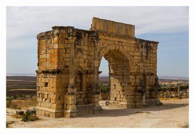Volubilis - Der Triumpfbogen zu Ehren des Caracalla
