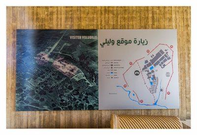 Volubilis - Übersichtskarte im Ausstellungsbereich