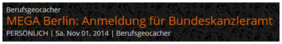 Geocaching-Nachrichten: Ein Beispiel für die Anzeige eines Beitrages