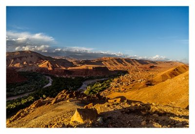 Im hohen Atlas: Abendstimmung über Bou Thrarar