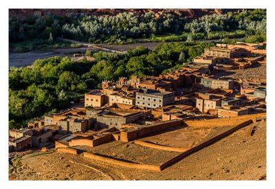Im hohen Atlas: Blick auf Bou Thrarar von oben
