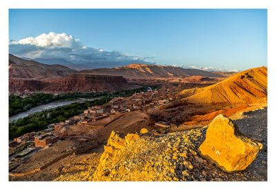 Im hohen Atlas: Blick in das Tal des M'Goun