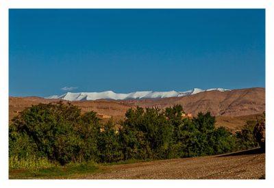 Im hohen Atlas: Die Schneegipfel im Gebirge