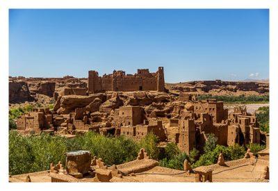 Im hohen Atlas: die große verfallene Kasbah