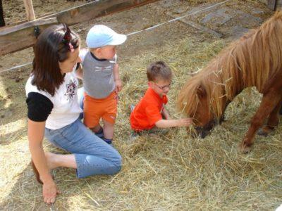 Kinder-Hospizdienst Saar: Besuch beim Tiertherapiehof