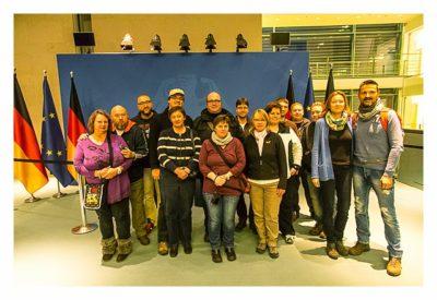 Mit dem Berufsgeocacher ins Bundeskanzleramt - Gruppenfoto unserer Führung