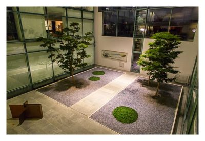 Mit dem Berufsgeocacher ins Bundeskanzleramt - Bäume im Gebäude