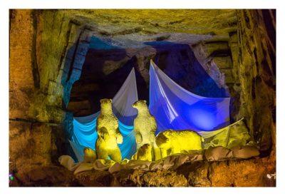 Valkenburg - Weihnachtsmarkt - Eisbären als Deko