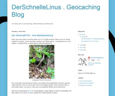 DerSchnelleLinus . Geocaching Blog (Blogvorstellung)