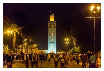 Marrakesch - Koutobia bei Nacht