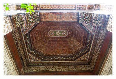 Marrakesch - Bahia-Palast - Decke