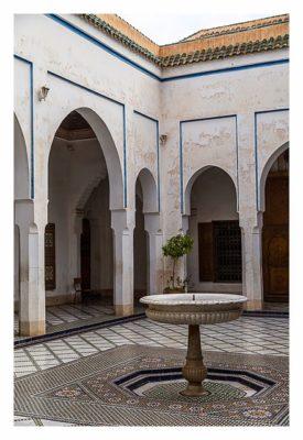 Marrakesch - Bahia-Palast - Innenhof