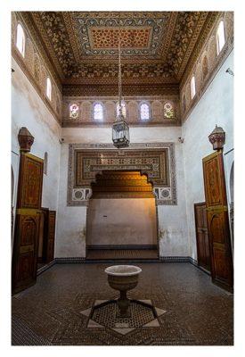 Marrakesch - Bahia-Palast - Raum mit Brunnen