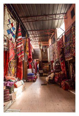 Marrakesch - Souk - Teppichhändler