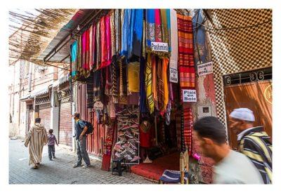 Marrakesch - Souk - Stoffladen