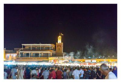 Marrakesch - Gauklerplatz am Abend