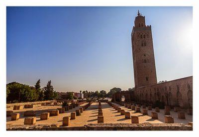 Marrakesch - Koutobia und die Riunen der alten Moschee