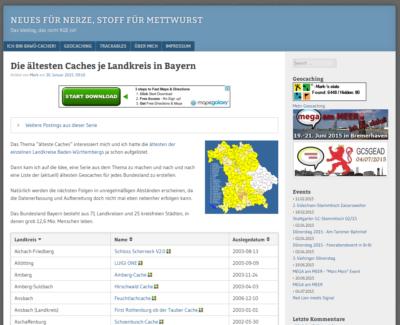 """Screenshot vom Blog """"Neues für Nerze, Stoff für Mettwurst"""""""