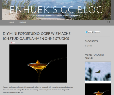 Screenshot von enhuek's GC Blog vom 5.2.2015