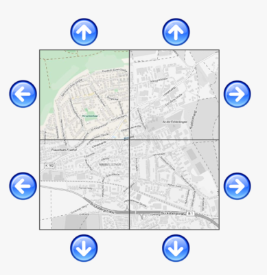 Kartennavigation Stufe 1