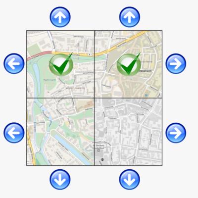 Kartennavigation - Stufe 3