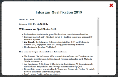 Screenshot Infos zur Qualifikation