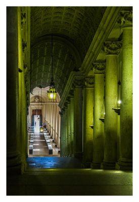 Rom: Der Vatikan - Abzweigung zum Palast des Papstes