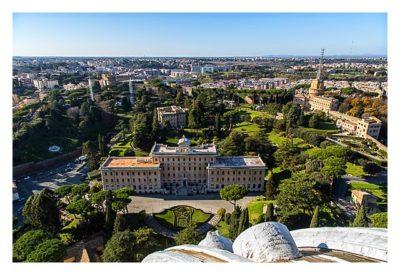 Rom: Der Vatikan - Petersdom: Ausblick von der Kuppel