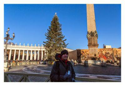 Rom: Der Vatikan - Petersdom: Obelisk auf dem Vorplatz