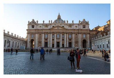 Rom: Der Vatikan - Petersdom: Fassade