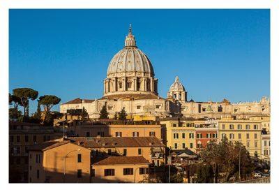 Rom: Der Vatikan - Aussichtspunkt an der Eisenbahn
