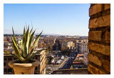 Rom: Der Vatikan - Ausblick aus dem Fenster des Museums