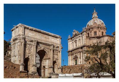 Rom: Geocaching bei den alten Römern: Forum Romanum - Bogen des Septimus Severus