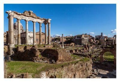 Rom: Geocaching bei den alten Römern: Forum Romanum - Tempel des Saturn