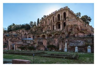 Rom: Geocaching bei den alten Römern: Forum Romanum - Blick auf den Palatin