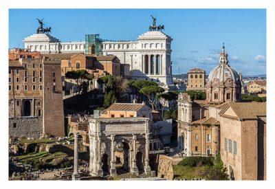 Rom: Geocaching bei den alten Römern: Palatin - Blick auf das Forum Romanum