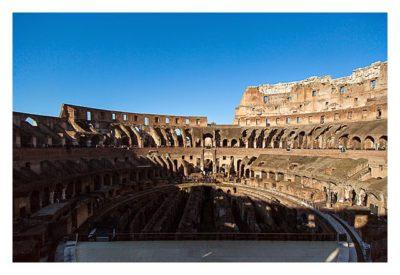 Rom: Geocaching bei den alten Römern: Kolosseum - Innenansicht