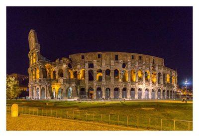 Rom: Geocaching bei den alten Römern: Kolosseum bei Nacht