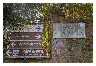 Rom: Geocaching bei den alten Römern: Via Appia Antica - Wegweiser