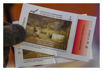Rom: Geocaching bei den alten Römern: Via Appia Antica - Eintrittskarte Katakomben