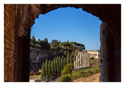 Rom: Geocaching bei den alten Römern: Kolosseum - Blick ins Forum Romanum