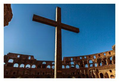 Rom: Geocaching bei den alten Römern: Kolosseum - Kreuz in der Arena
