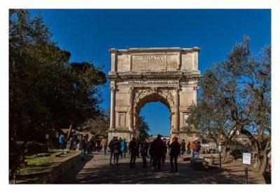 Rom: Geocaching bei den alten Römern: Forum Romanum - Titus-Bogen