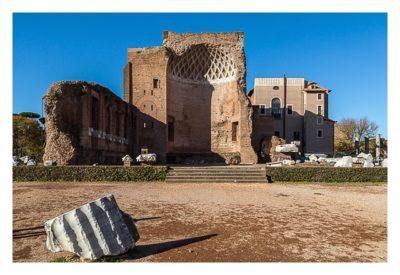 Rom: Geocaching bei den alten Römern: Forum Romanum -Tempel von Venus und Roma